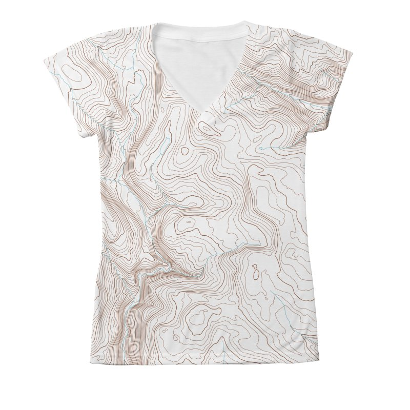 Topo T Women's V-Neck All Over Print by Puttyhead's Artist Shop