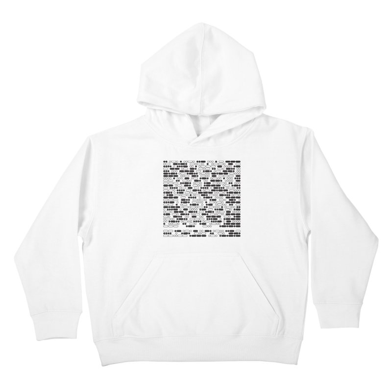 Peace Morse Kids Pullover Hoody by Puttyhead's Artist Shop