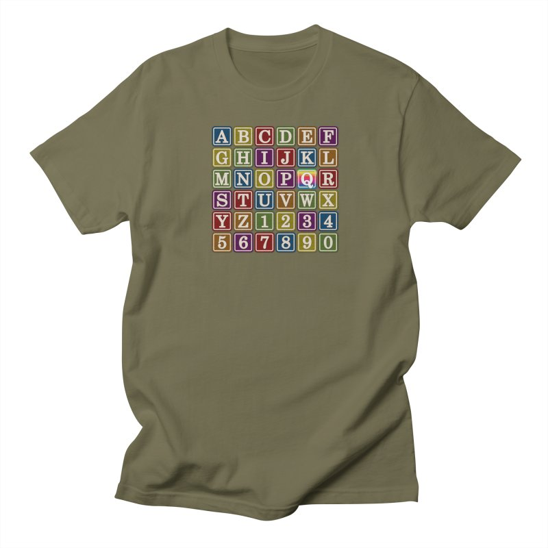 Alphabet Blocks (Q) Women's Unisex T-Shirt by Puttyhead's Artist Shop