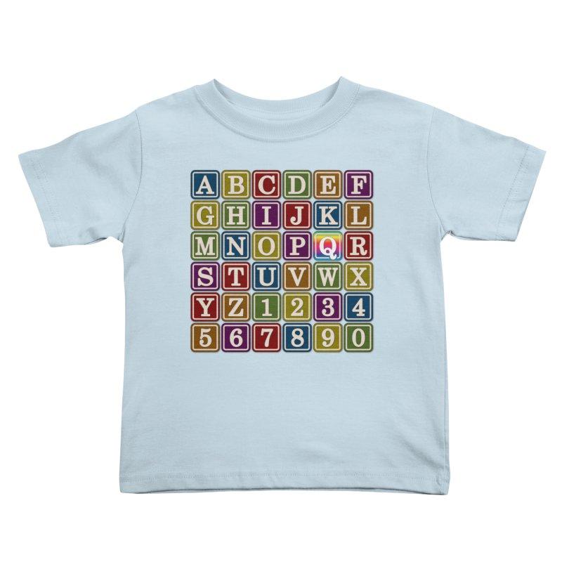 Alphabet Blocks (Q) Kids Toddler T-Shirt by Puttyhead's Artist Shop