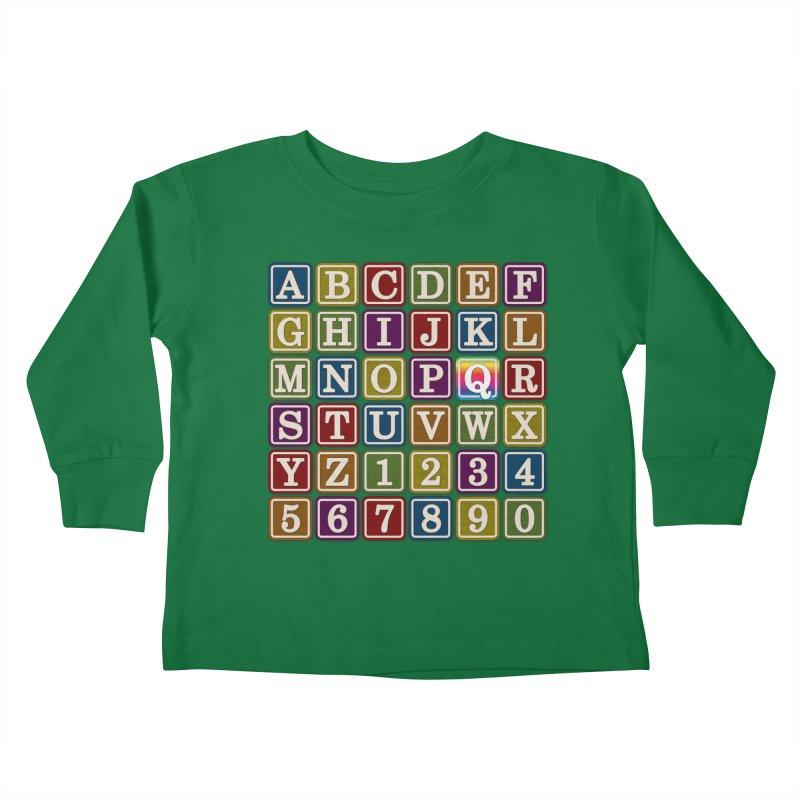 Alphabet Blocks (Q) Kids Toddler Longsleeve T-Shirt by Puttyhead's Artist Shop