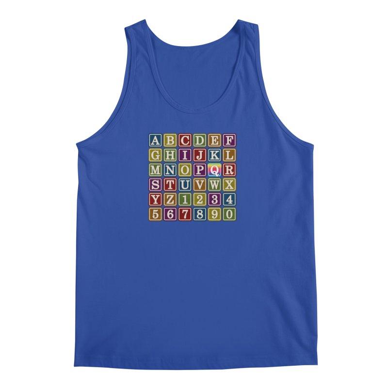 Alphabet Blocks (Q) Men's Tank by Puttyhead's Artist Shop