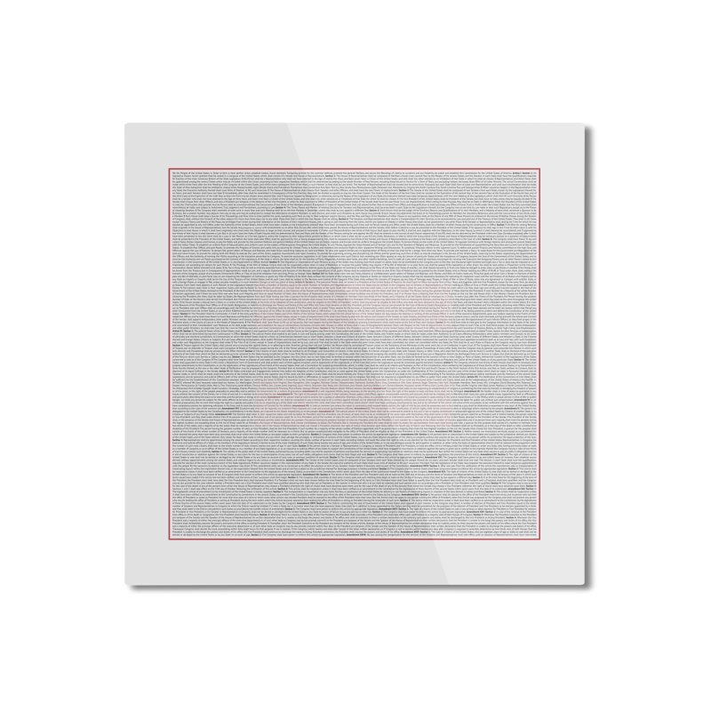 Constitutional Equality Home Mounted Aluminum Print by Puttyhead's Artist Shop