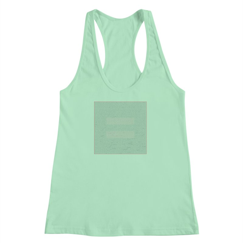 Constitutional Equality Women's Racerback Tank by Puttyhead's Artist Shop