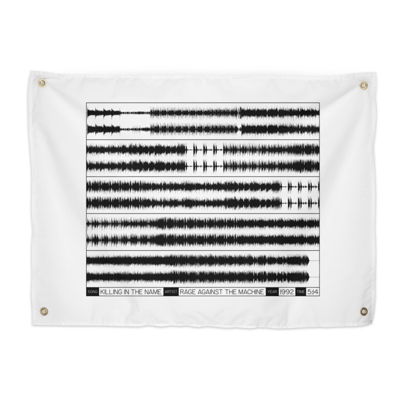 Killing In The Name (Black) Home Tapestry by Puttyhead's Artist Shop
