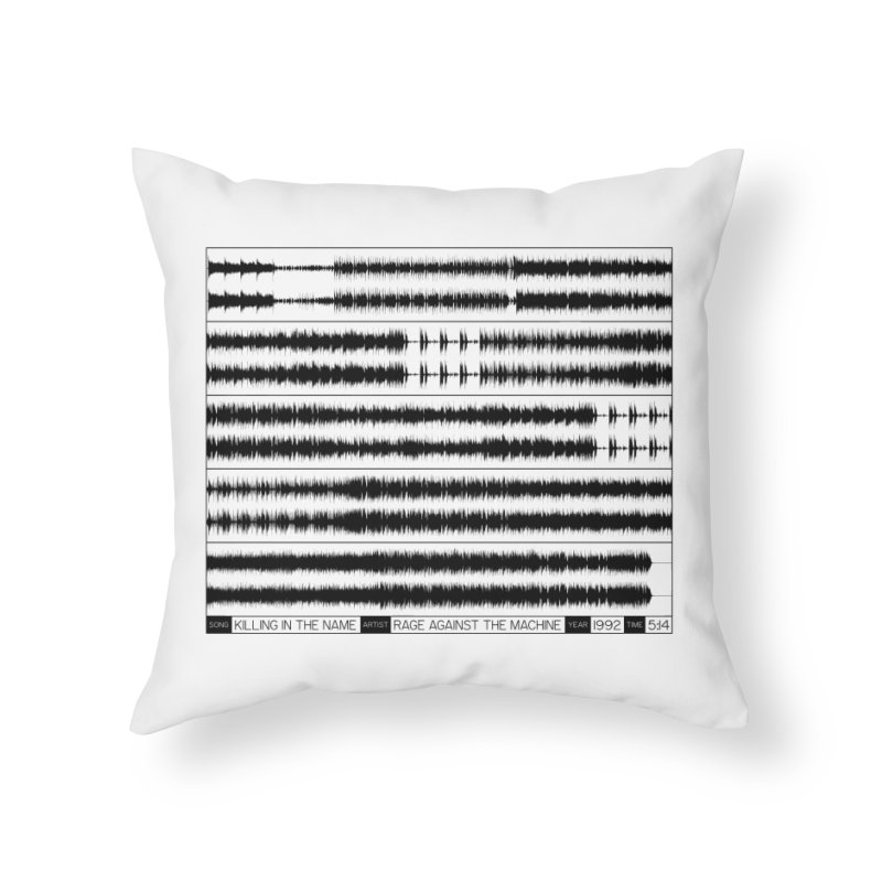 Killing In The Name (Black) Home Throw Pillow by Puttyhead's Artist Shop