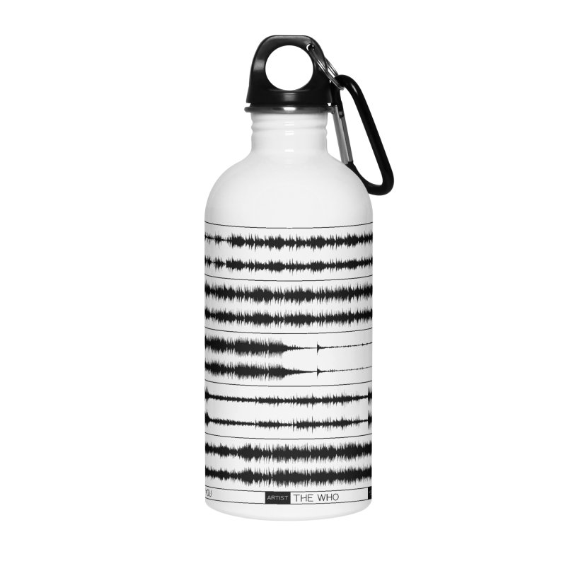 Who Are You (Black) Accessories Water Bottle by Puttyhead's Artist Shop