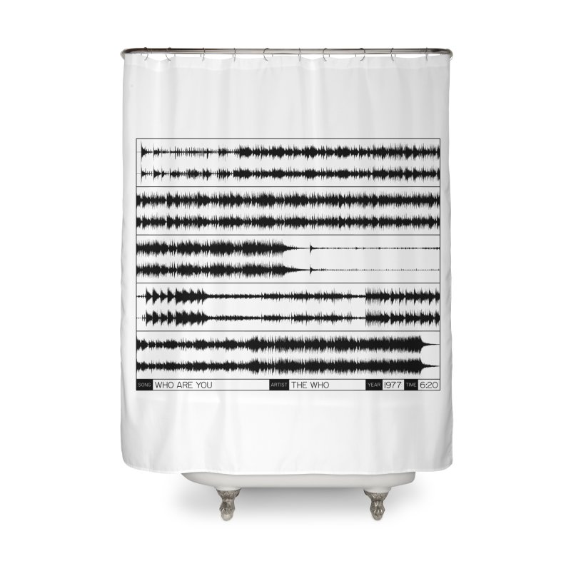 Who Are You (Black) Home Shower Curtain by Puttyhead's Artist Shop