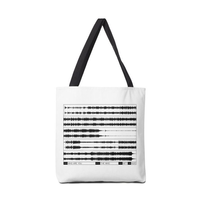Who Are You (Black) Accessories Bag by Puttyhead's Artist Shop