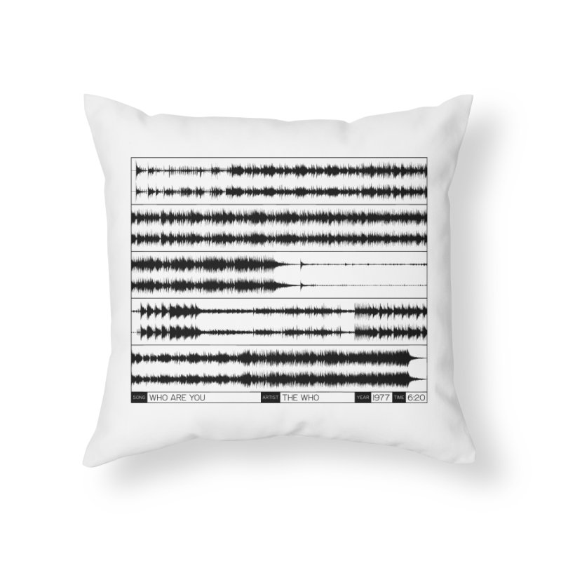 Who Are You (Black) Home Throw Pillow by Puttyhead's Artist Shop