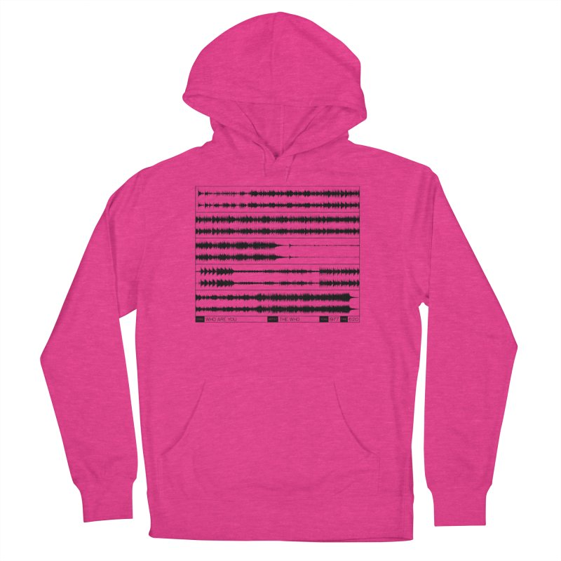 Who Are You (Black) Women's French Terry Pullover Hoody by Puttyhead's Artist Shop
