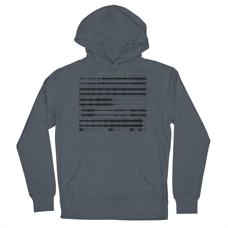 Who Are You (Black) Men's French Terry Pullover Hoody by Puttyhead's Artist Shop