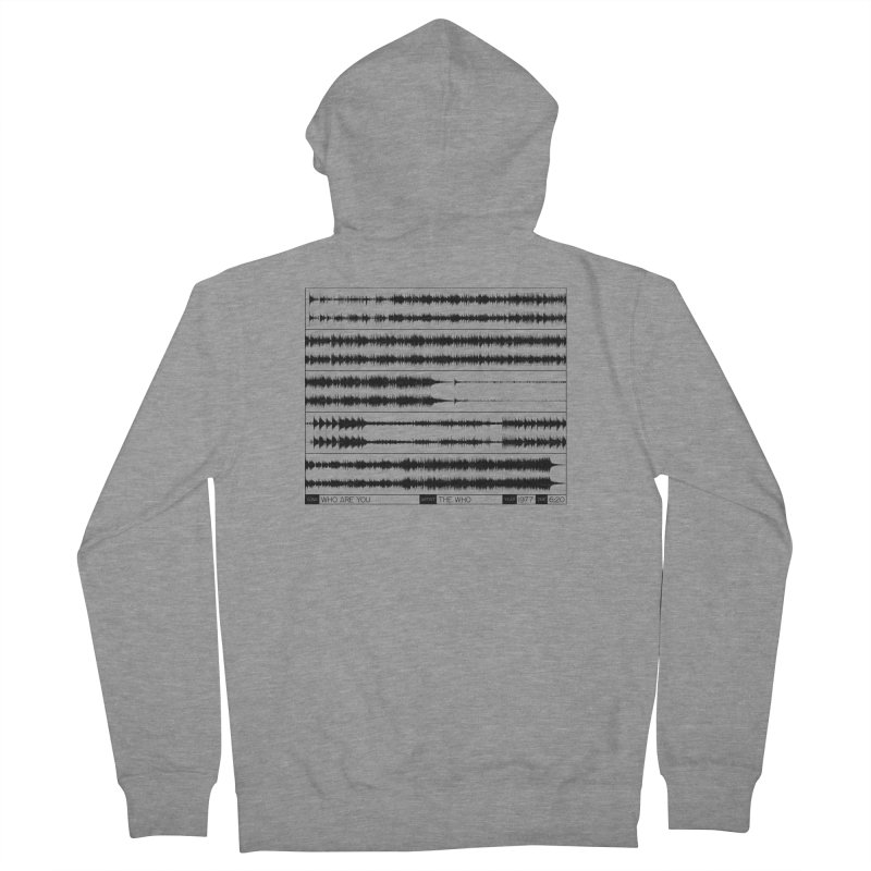Who Are You (Black) Women's French Terry Zip-Up Hoody by Puttyhead's Artist Shop