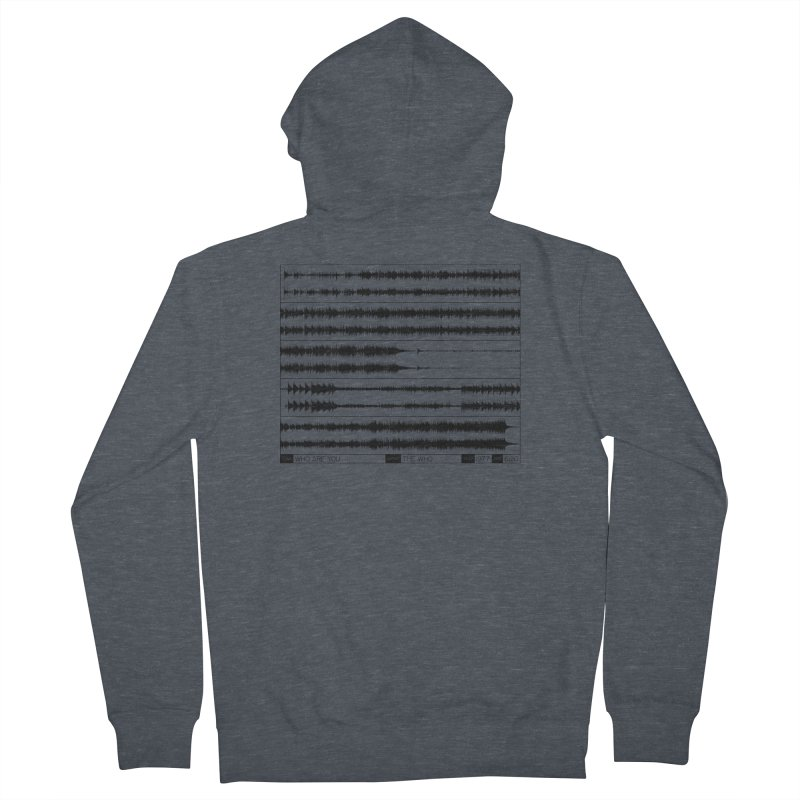 Who Are You (Black) Men's French Terry Zip-Up Hoody by Puttyhead's Artist Shop