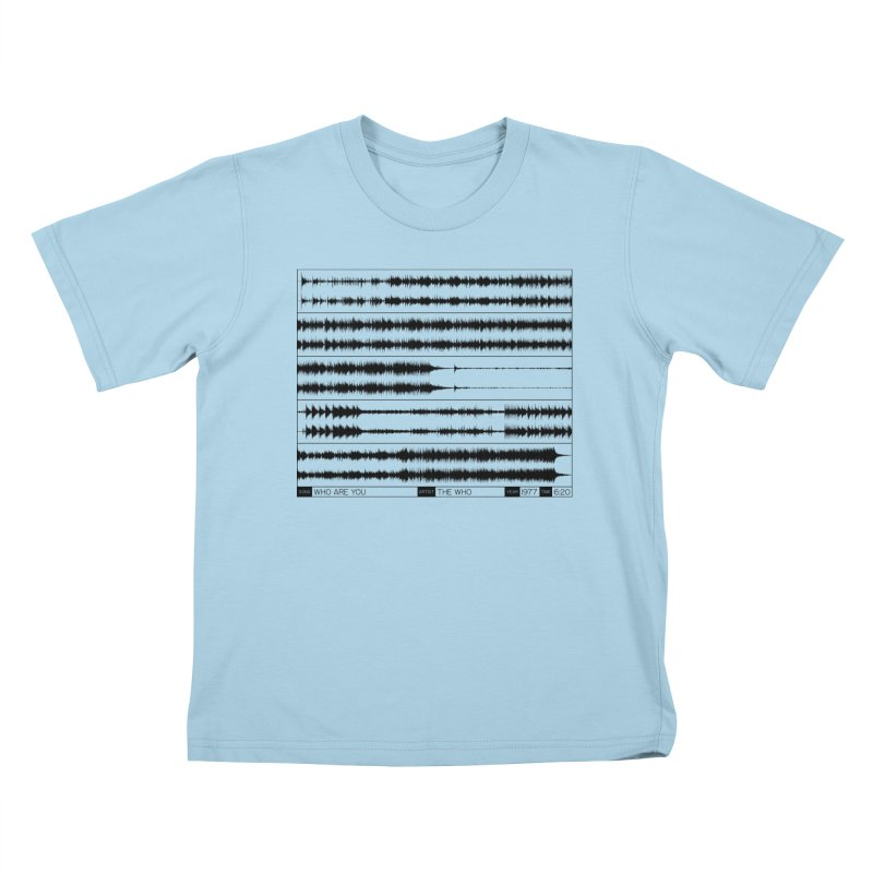 Who Are You (Black) Kids T-Shirt by Puttyhead's Artist Shop