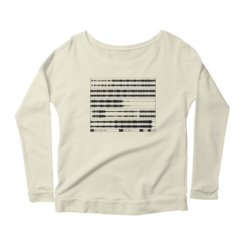 Who Are You (Black) Women's Scoop Neck Longsleeve T-Shirt by Puttyhead's Artist Shop