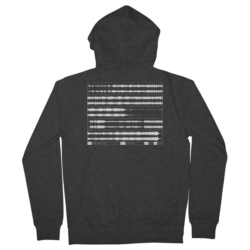 Who Are You (White) Men's French Terry Zip-Up Hoody by Puttyhead's Artist Shop