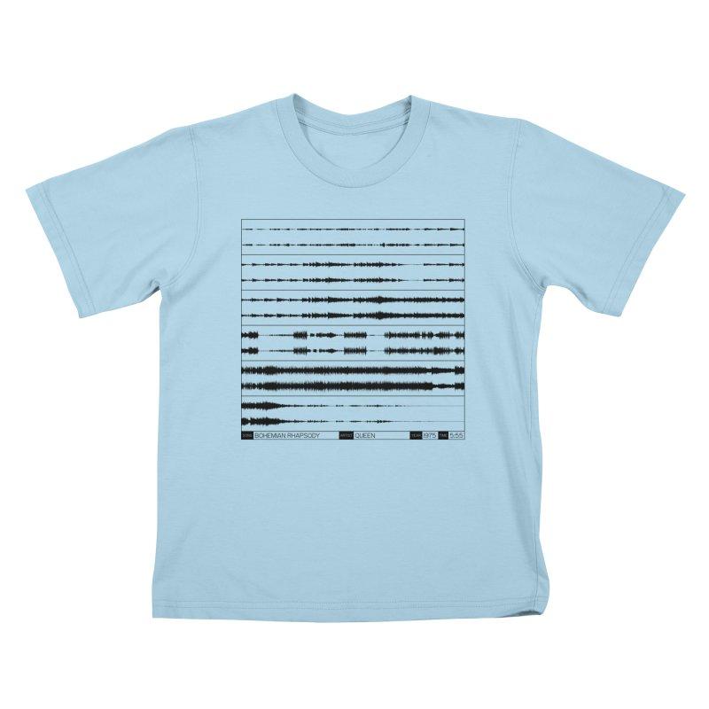 Bohemian Rhapsody (Black) Kids T-Shirt by Puttyhead's Artist Shop