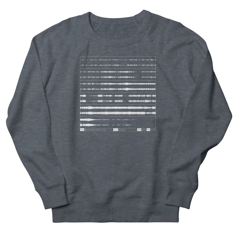 Bohemian Rhapsody (White) Women's French Terry Sweatshirt by Puttyhead's Artist Shop