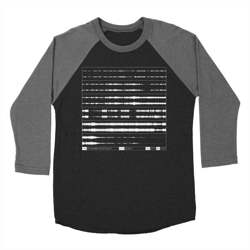 Bohemian Rhapsody (White) Women's Baseball Triblend Longsleeve T-Shirt by Puttyhead's Artist Shop