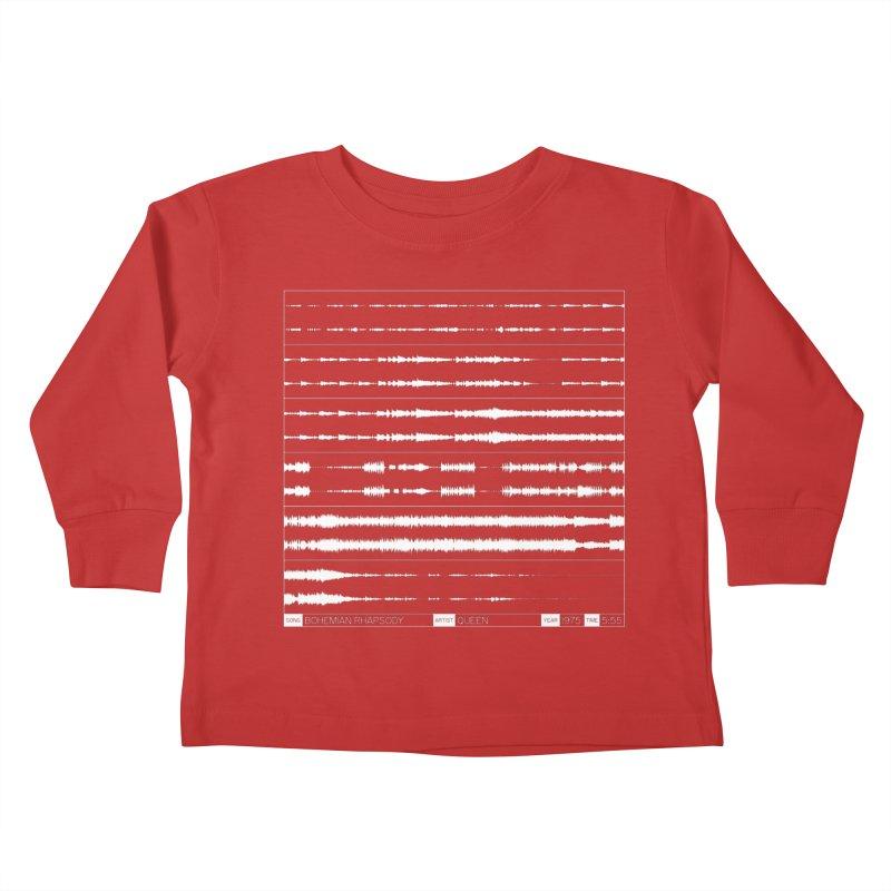 Bohemian Rhapsody (White) Kids Toddler Longsleeve T-Shirt by Puttyhead's Artist Shop