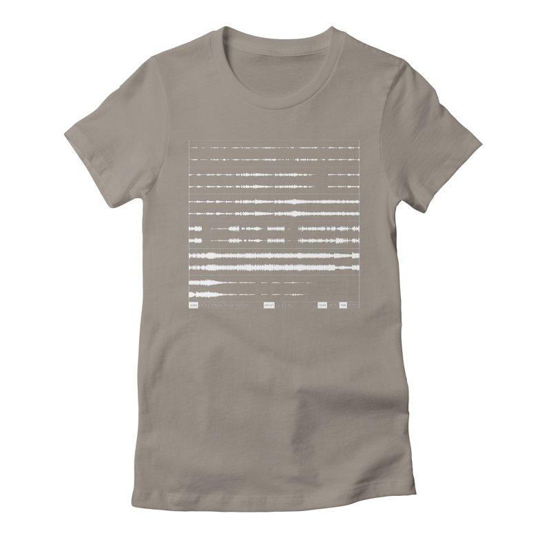 Bohemian Rhapsody (White) Women's Fitted T-Shirt by Puttyhead's Artist Shop
