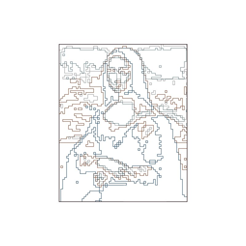 Mona Lisa Digital Lines   by Puttyhead's Artist Shop