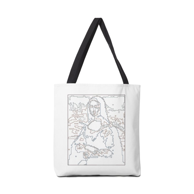 Mona Lisa Digital Lines Accessories Bag by Puttyhead's Artist Shop