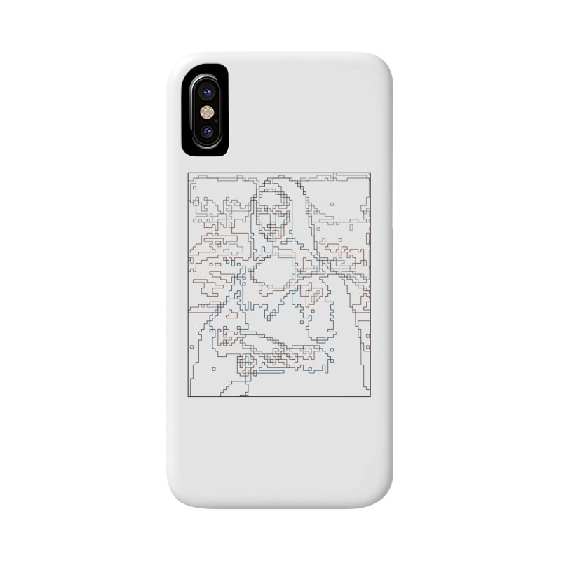 Mona Lisa Digital Lines Accessories Phone Case by Puttyhead's Artist Shop