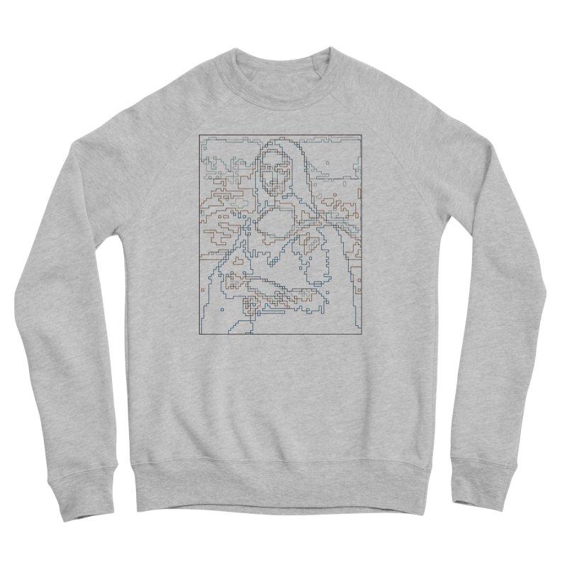 Mona Lisa Digital Lines Women's Sponge Fleece Sweatshirt by Puttyhead's Artist Shop