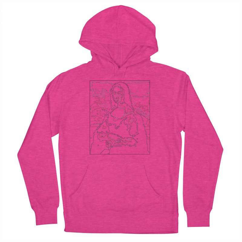 Mona Lisa Digital Lines Women's French Terry Pullover Hoody by Puttyhead's Artist Shop