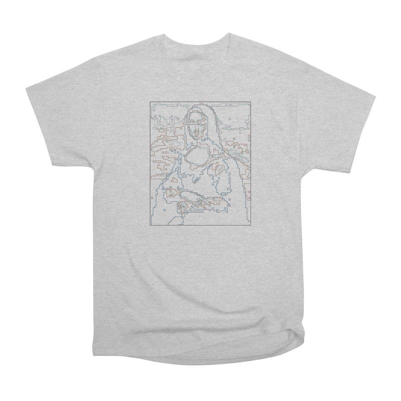 Mona Lisa Digital Lines Women's Heavyweight Unisex T-Shirt by Puttyhead's Artist Shop
