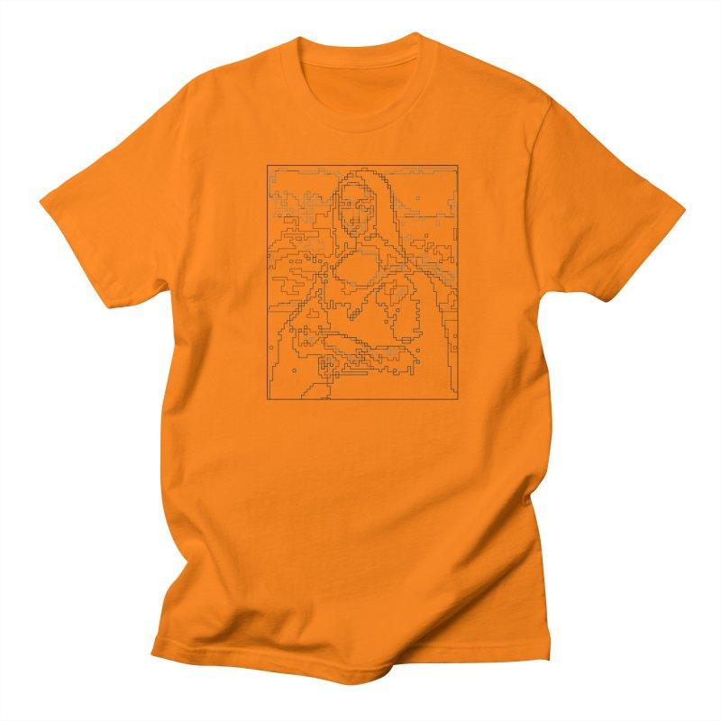 Mona Lisa Digital Lines Women's Regular Unisex T-Shirt by Puttyhead's Artist Shop