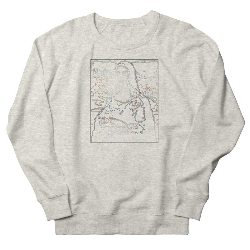 Mona Lisa Digital Lines Men's French Terry Sweatshirt by Puttyhead's Artist Shop