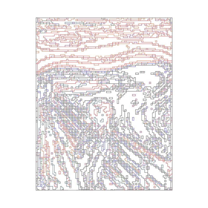 The Scream - Digital Lines by Puttyhead's Artist Shop