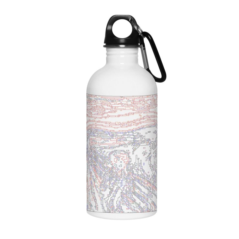 The Scream - Digital Lines Accessories Water Bottle by Puttyhead's Artist Shop