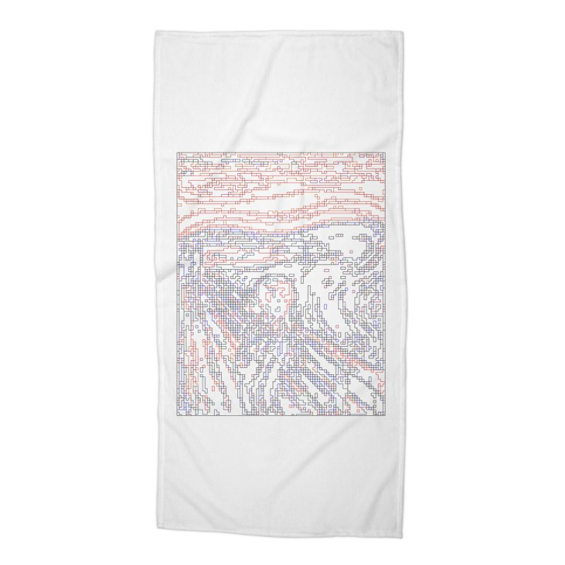 The Scream - Digital Lines Accessories Beach Towel by Puttyhead's Artist Shop