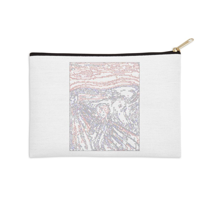 The Scream - Digital Lines Accessories Zip Pouch by Puttyhead's Artist Shop