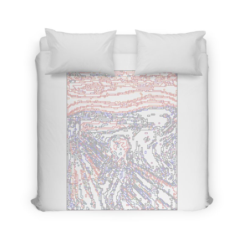 The Scream - Digital Lines Home Duvet by Puttyhead's Artist Shop