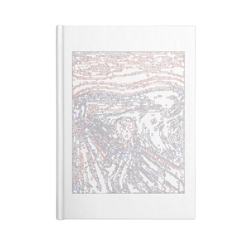 The Scream - Digital Lines Accessories Notebook by Puttyhead's Artist Shop