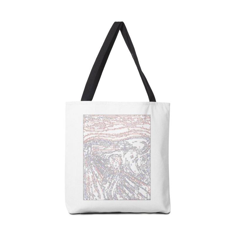The Scream - Digital Lines Accessories Tote Bag Bag by Puttyhead's Artist Shop