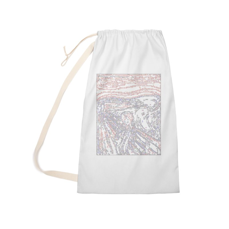 The Scream - Digital Lines Accessories Laundry Bag Bag by Puttyhead's Artist Shop