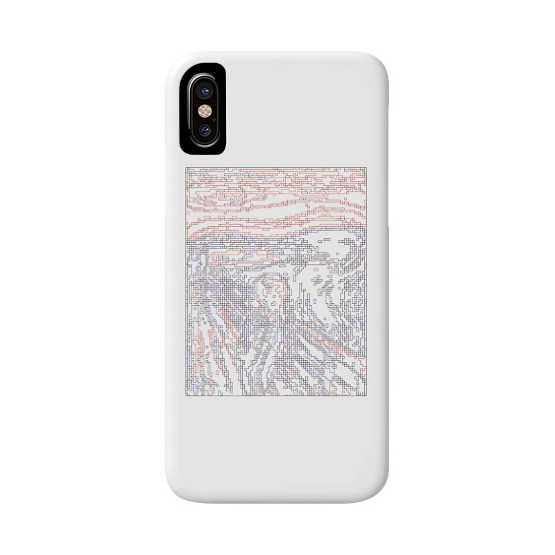 The Scream - Digital Lines Accessories Phone Case by Puttyhead's Artist Shop