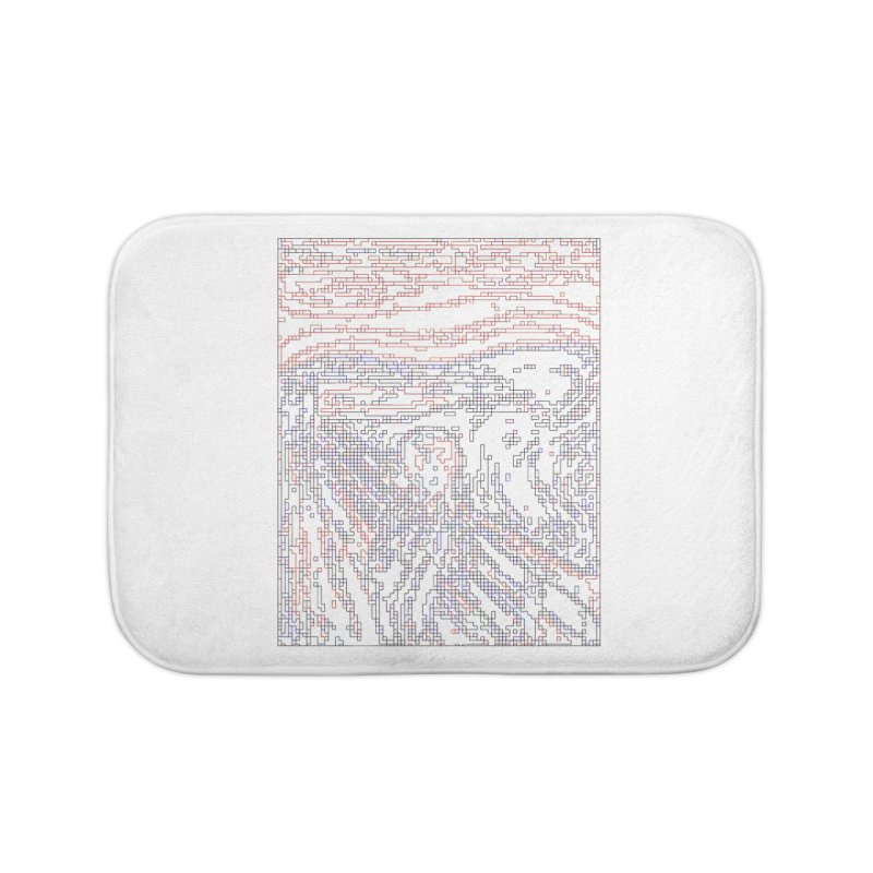 The Scream - Digital Lines Home Bath Mat by Puttyhead's Artist Shop