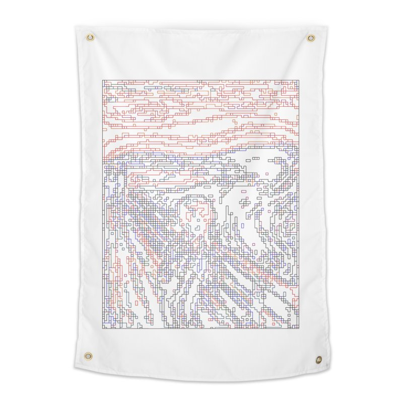 The Scream - Digital Lines Home Tapestry by Puttyhead's Artist Shop