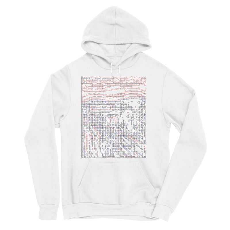 The Scream - Digital Lines Men's Sponge Fleece Pullover Hoody by Puttyhead's Artist Shop