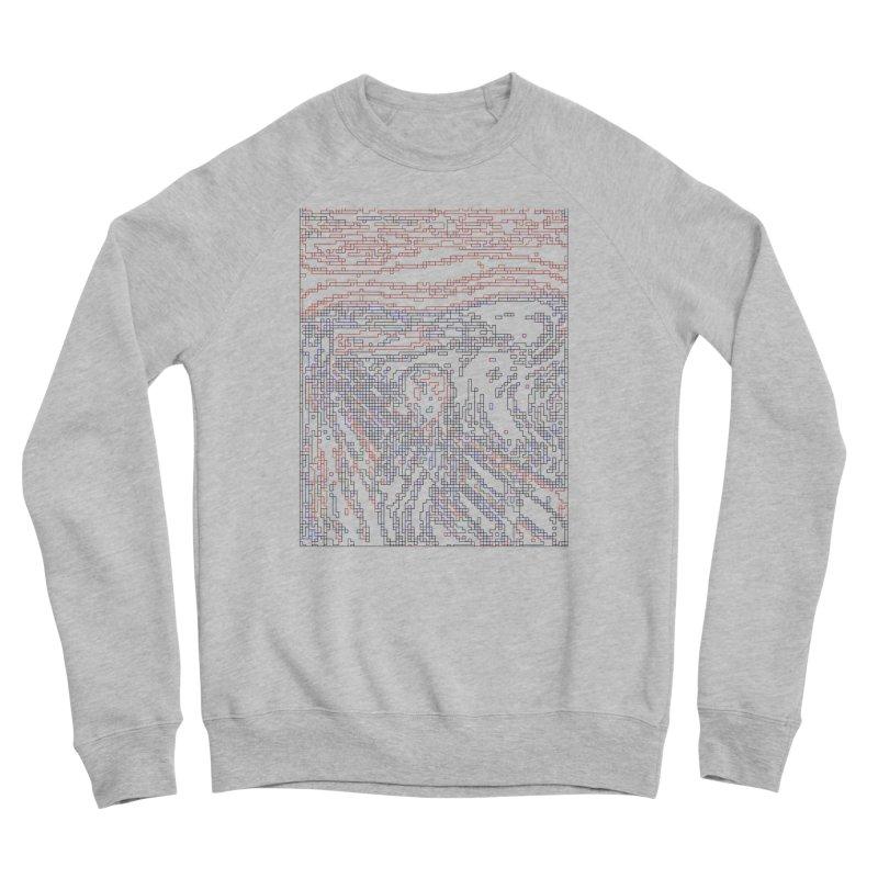 The Scream - Digital Lines Women's Sponge Fleece Sweatshirt by Puttyhead's Artist Shop
