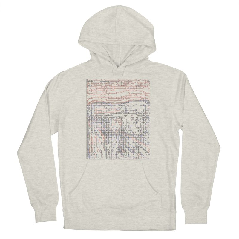 The Scream - Digital Lines Men's French Terry Pullover Hoody by Puttyhead's Artist Shop