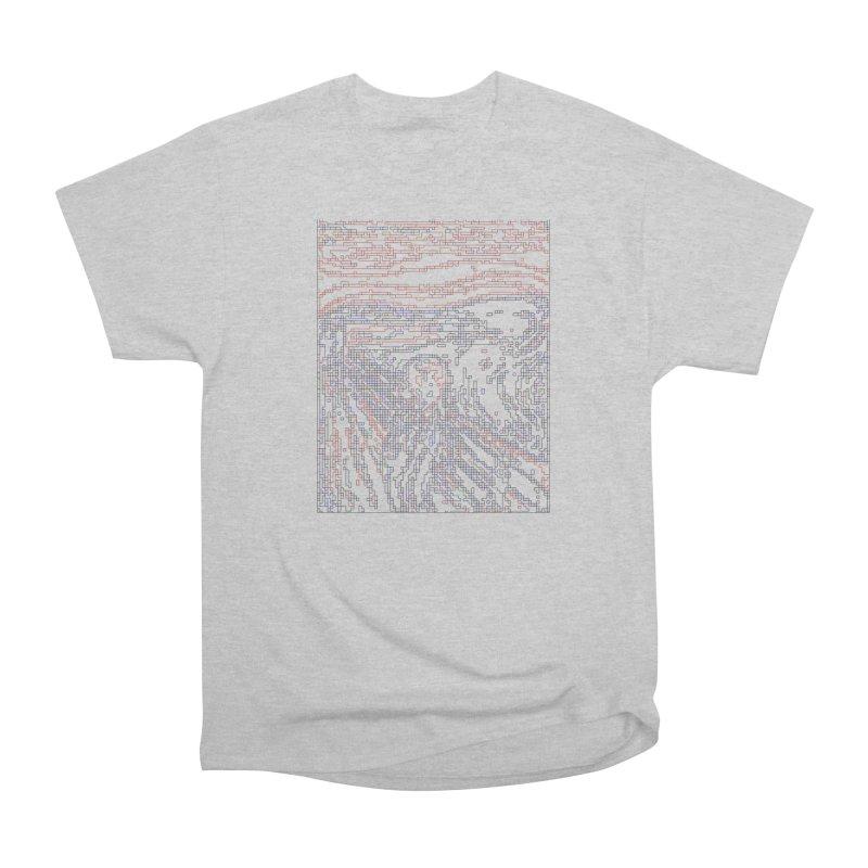The Scream - Digital Lines Women's Heavyweight Unisex T-Shirt by Puttyhead's Artist Shop