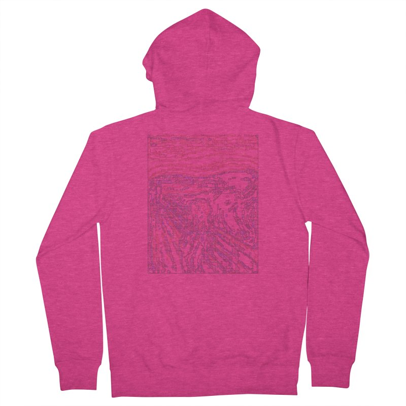 The Scream - Digital Lines Women's French Terry Zip-Up Hoody by Puttyhead's Artist Shop